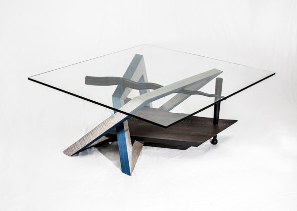 Kandinsky coffee table blue