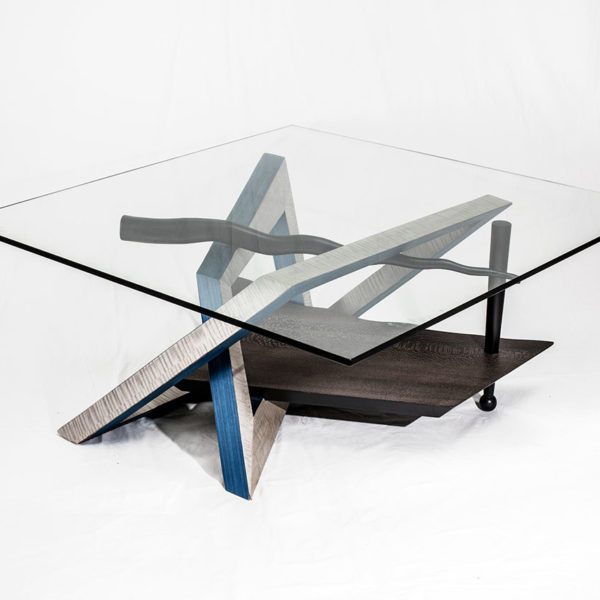 Kandinsky coffee table blue
